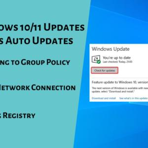 Disable Windows 10/11 Updates
