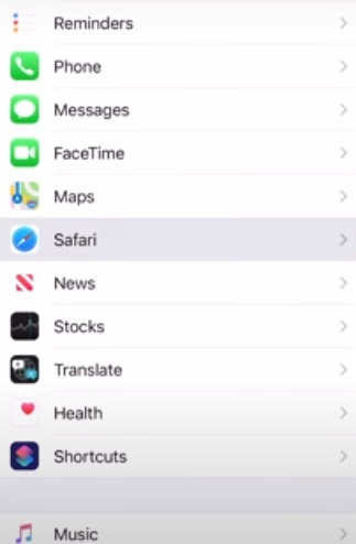 click on safari to Fix Safari Running Slow on Mac