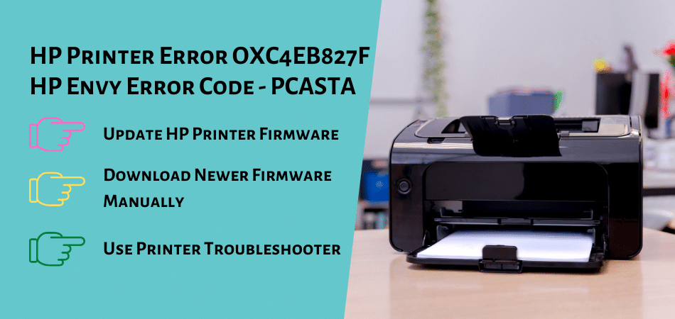 HP Printer Error OXC4EB827F