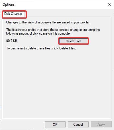 delete file under disk cleanup to Delete Backup Files in Windows 10