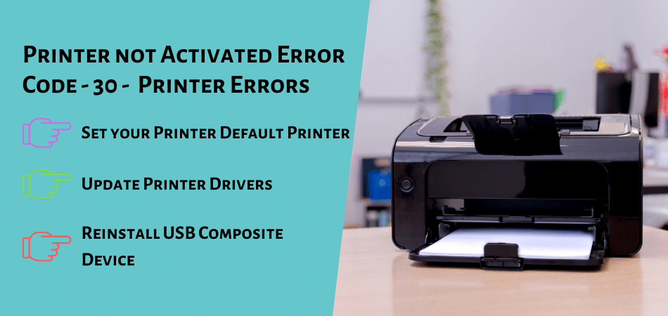 Printer not Activated Error Code - 30 - Printer Errors